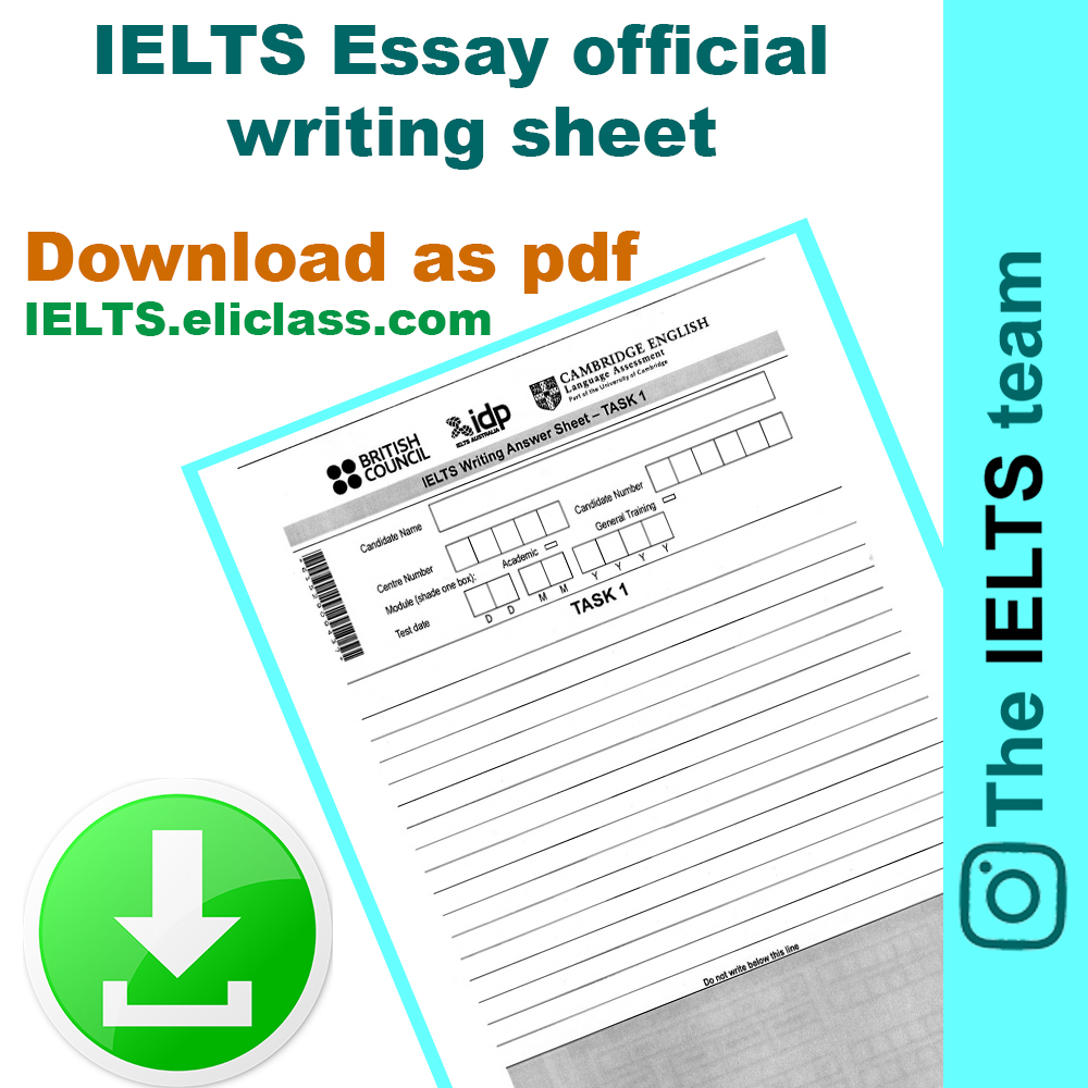 IELTS Official Answer Sheets – eliclass com